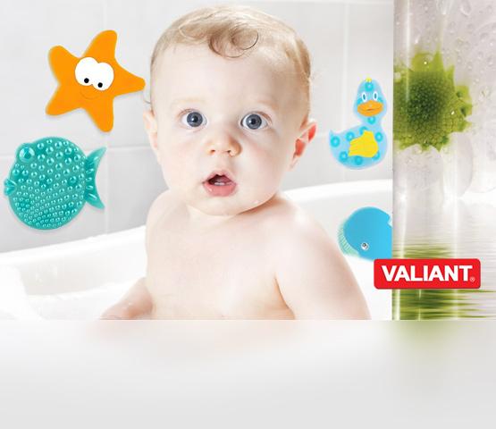 Valiant. Виниловые миниковрики и  аксессуары для ванной