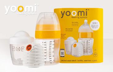 Yoomi. Бутылочки для кормления с автономным подогревателем