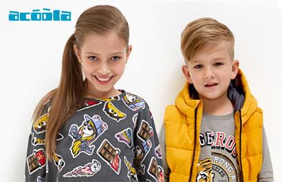 Acoola. Новинки осеннего сезона для детей от 2 до 14 лет