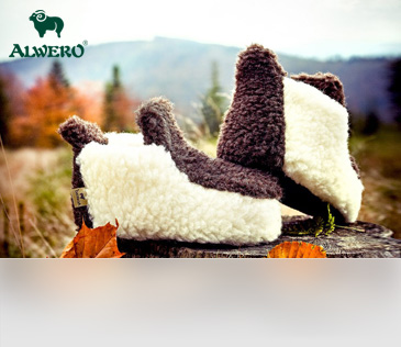 Alwero. Домашняя обувь из овечьей шерсти