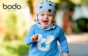 Bodo. Трикотажная одежда и шапочки для детей