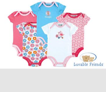 Luvable Friends. Трикотажные изделия для новорожденных