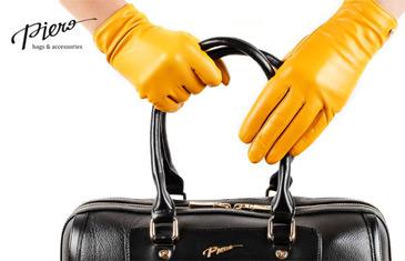 Piero. Перчатки из натуральной кожи