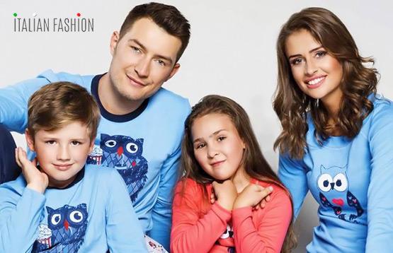 Italian Fashion. Пижамы для детей и взрослых