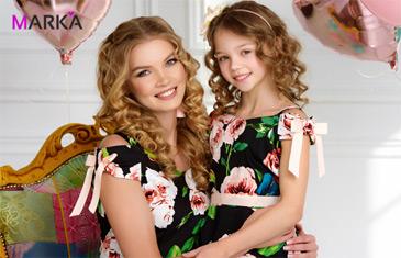 Mark'a. Парные платья маме и дочке