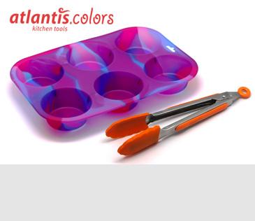 Atlantis. Силиконовые аксессуары и алюминиевые сковороды