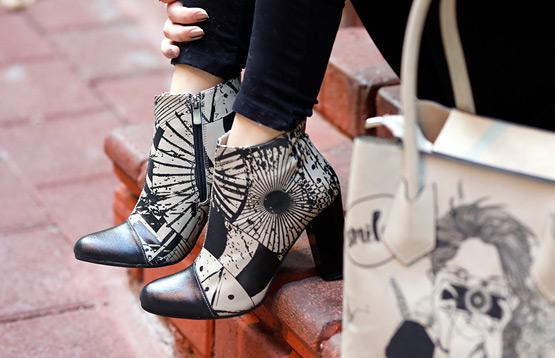 Принты на женской обуви – модные тенденции